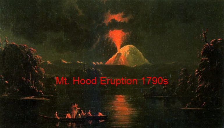 Mt. Hood Eruption 1790s